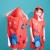 Полотенце-пончо для деток  для плавания и пляжных прогулок на застёжках, Leacco