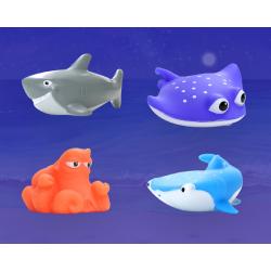 Набор детских игрушек для ванной и бассейна, морские обитататели, для детей, для ныряния, разноцветные