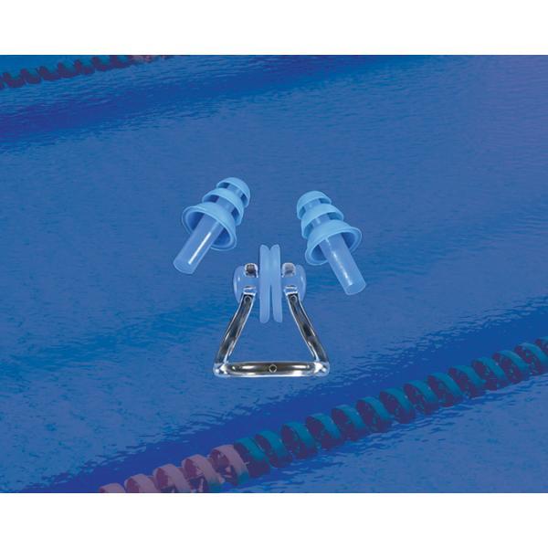 Комплект беруш для плавания и зажим для носа