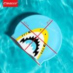 Шапочка для плавания детская в бассейне, Leacco, силиконовая, универсальная.