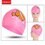 Шапочка для плавания детская, Leacco, силиконовая, универсальная.