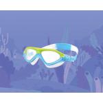 Очки-полумаска для плавания детские, универсальные с Anti-туманным покрытием, Leacco